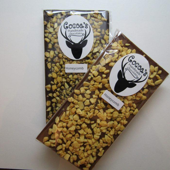 Honeycomb chocolate bar