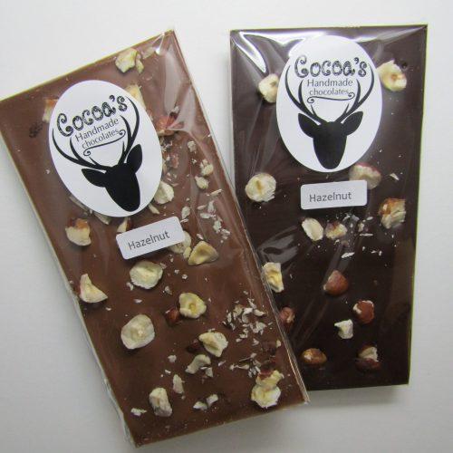 Hazelnut chocolate bars