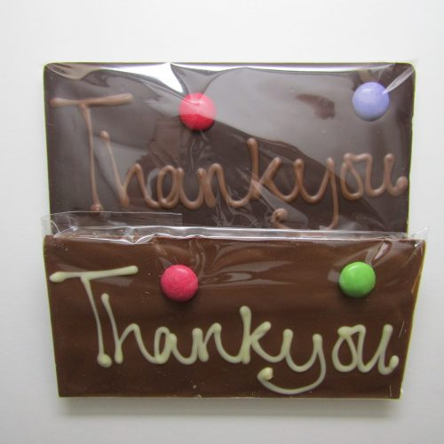'Thankyou' chocolate bars