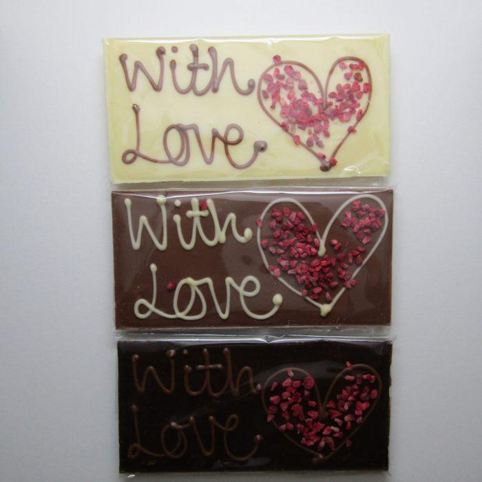 'With Love' chocolate bars