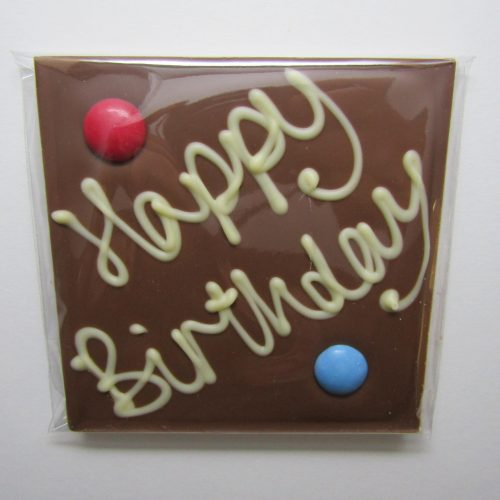 Milk chocolate 'Happy Birthday' bar