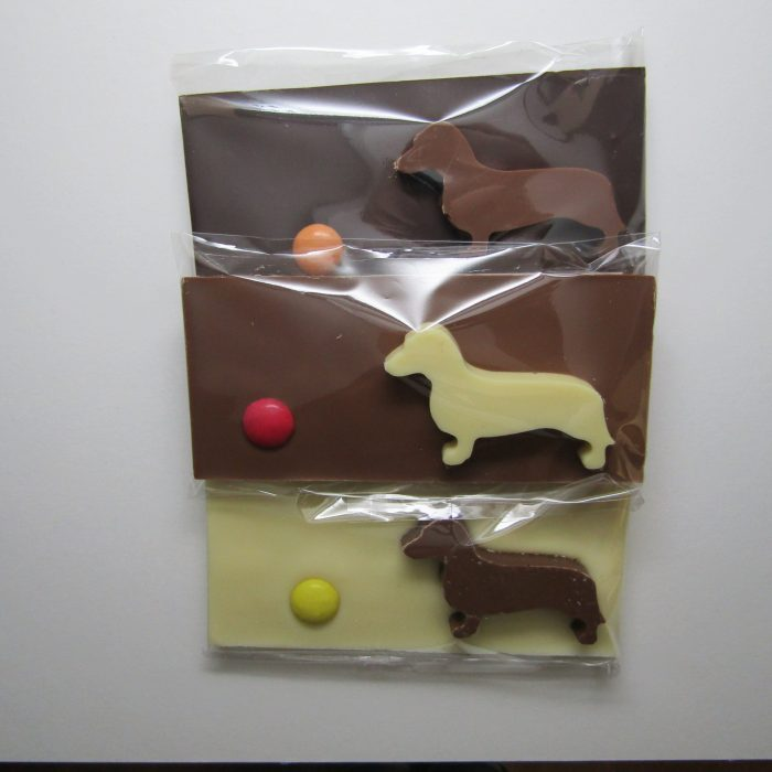 Dachshund chocolate bars