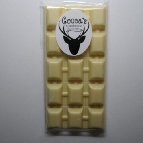 Plain white chocolate bar